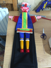 My Mr Punch costume being made
